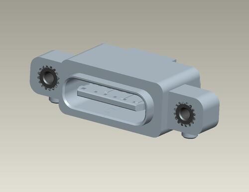 Waterproof Type C connector 6PIN/沉板/防水款 產品圖
