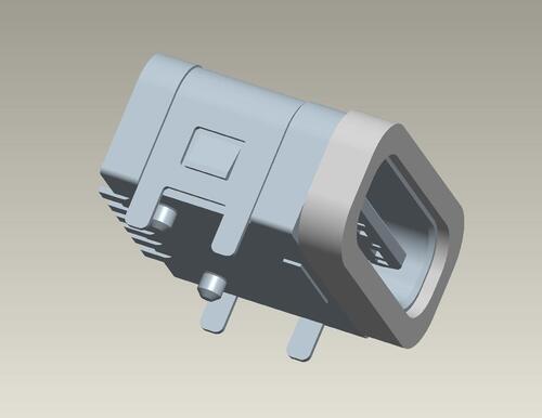 Waterproof Type C connector 6PIN/板上/防水款 產品圖